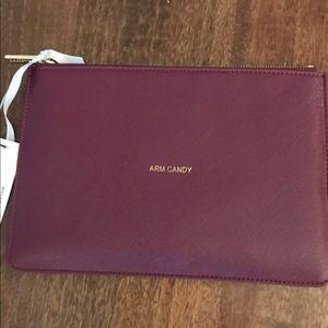 Handbags - NWT | Burgundy Clutch